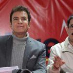 Manuel Zelaya Rosales y Salvador Nasralla de la oposición hondureña.