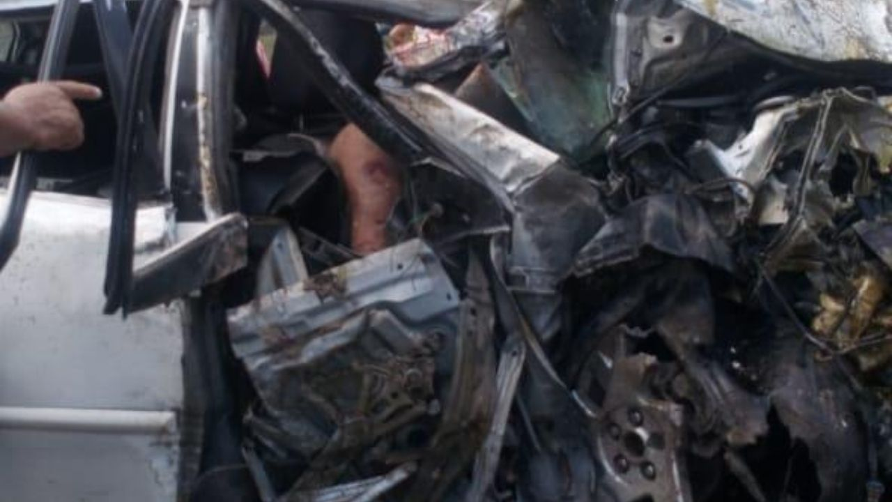 Cuatro personas fallecidas en aparatoso accidente vial en San Pedro Sula