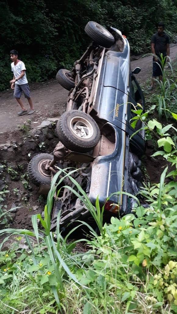 Alcalde en Intibucá sufre accidente vial cuando iba a entregar comida a enfermos por covid