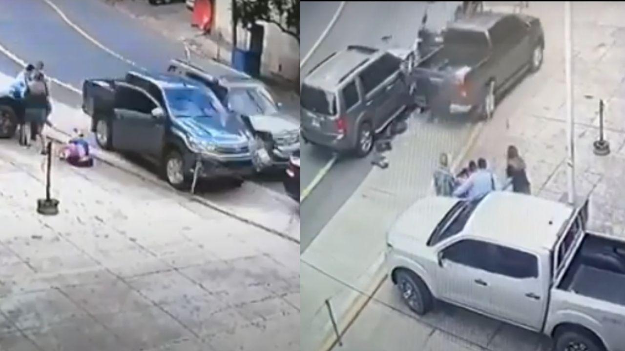 Hasta 20 años de prisión podría enfrentar conductor que atropelló a fiscal hondureño, aquí los vídeos de accidente