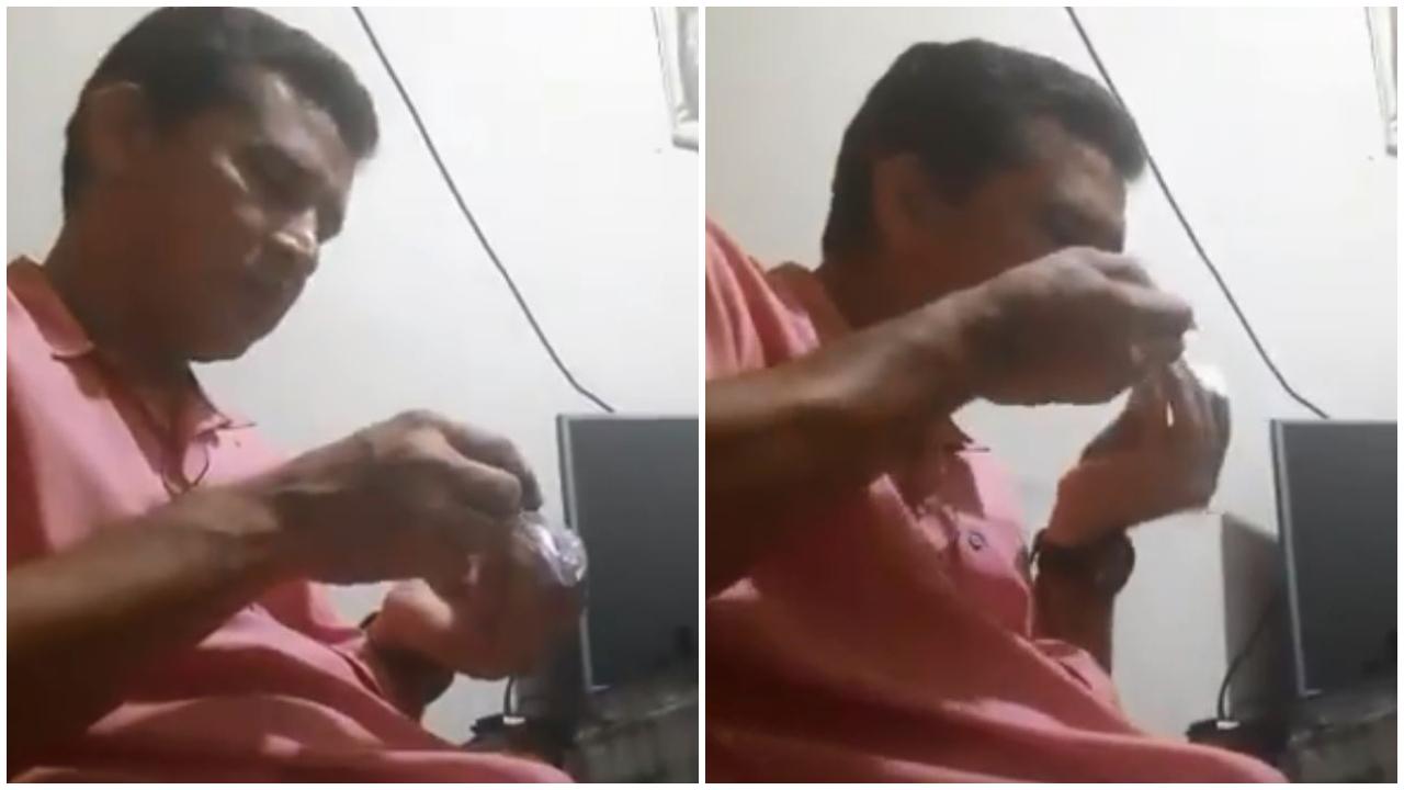 Alcalde de Guaimaca deja su cargo y entra a rehabilitación tras aparecer en vídeo consumiendo supuesta droga