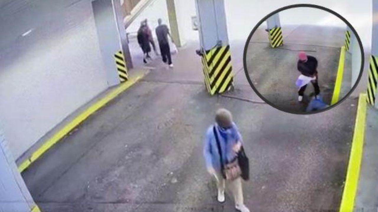Ladrón arrastra y golpea a una anciana para quitarle el bolso