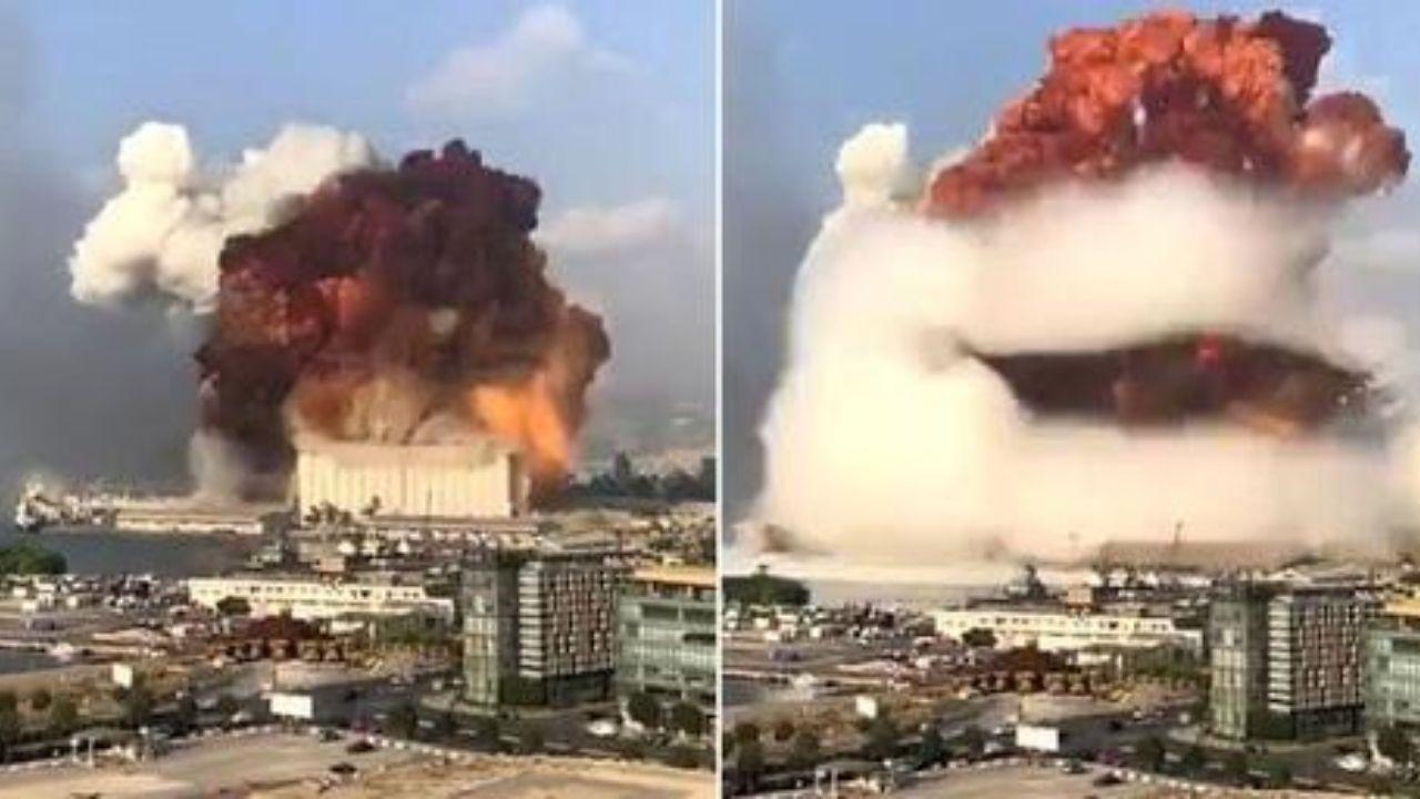 Vídeos registran impactantes explosiones en Beirut, Líbano