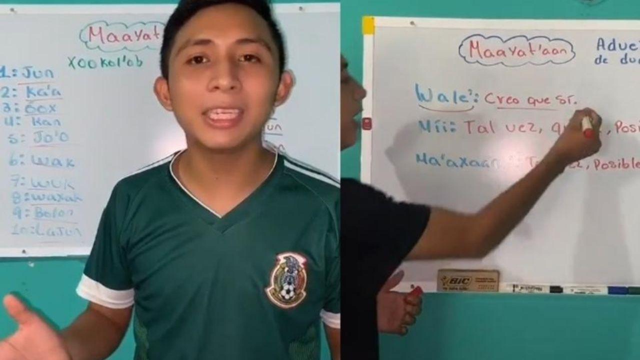 Joven se vuelve viral en TikTok  por enseñar la lengua Maya de forma sencilla, te compartimos el vídeo