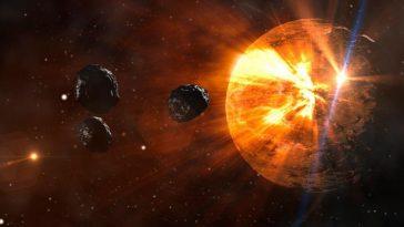 Video capta coche entre el sol y un cometa