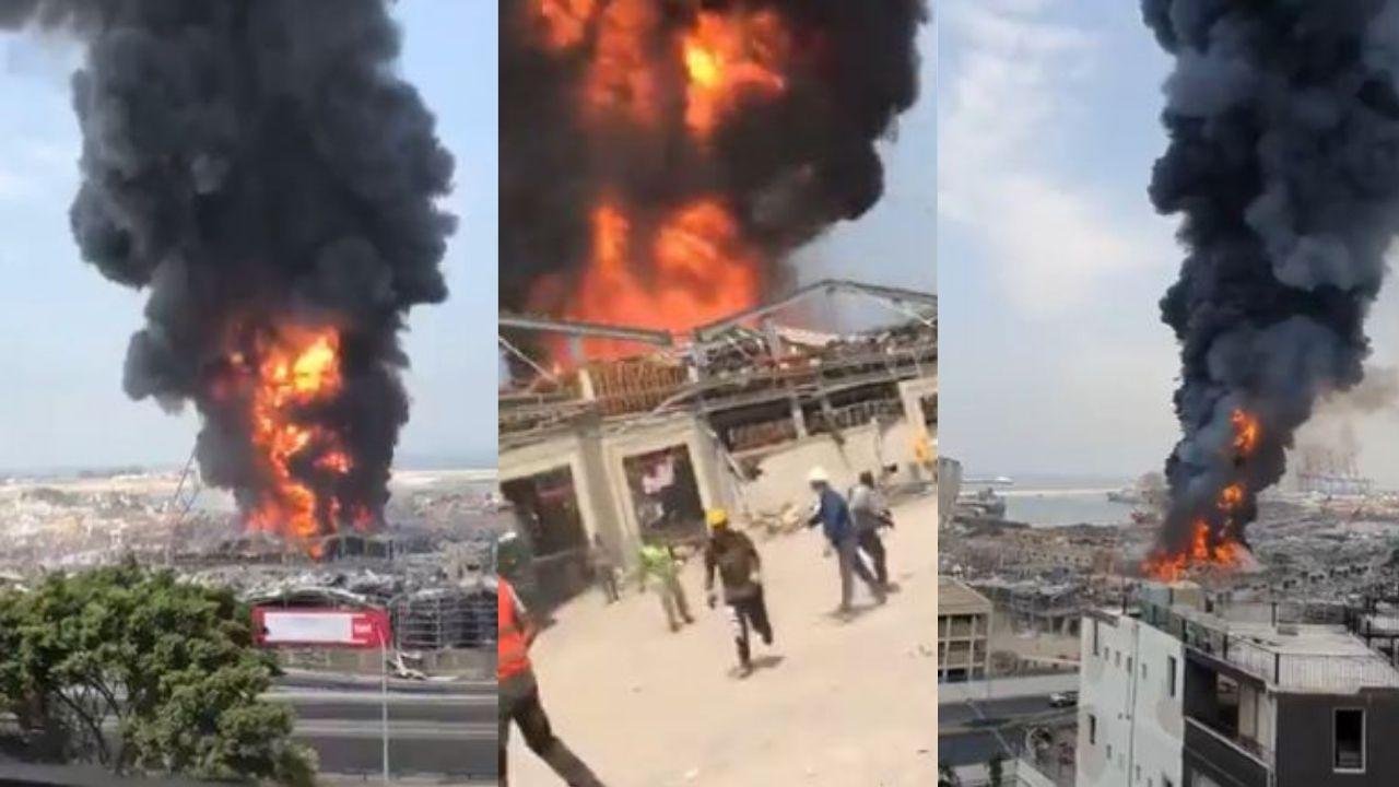 Beirut registra otro pavoroso incendio, un mes después de la explosión que mató a unas 200 personas