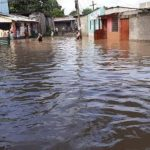 Calles inundadas en Olancho.