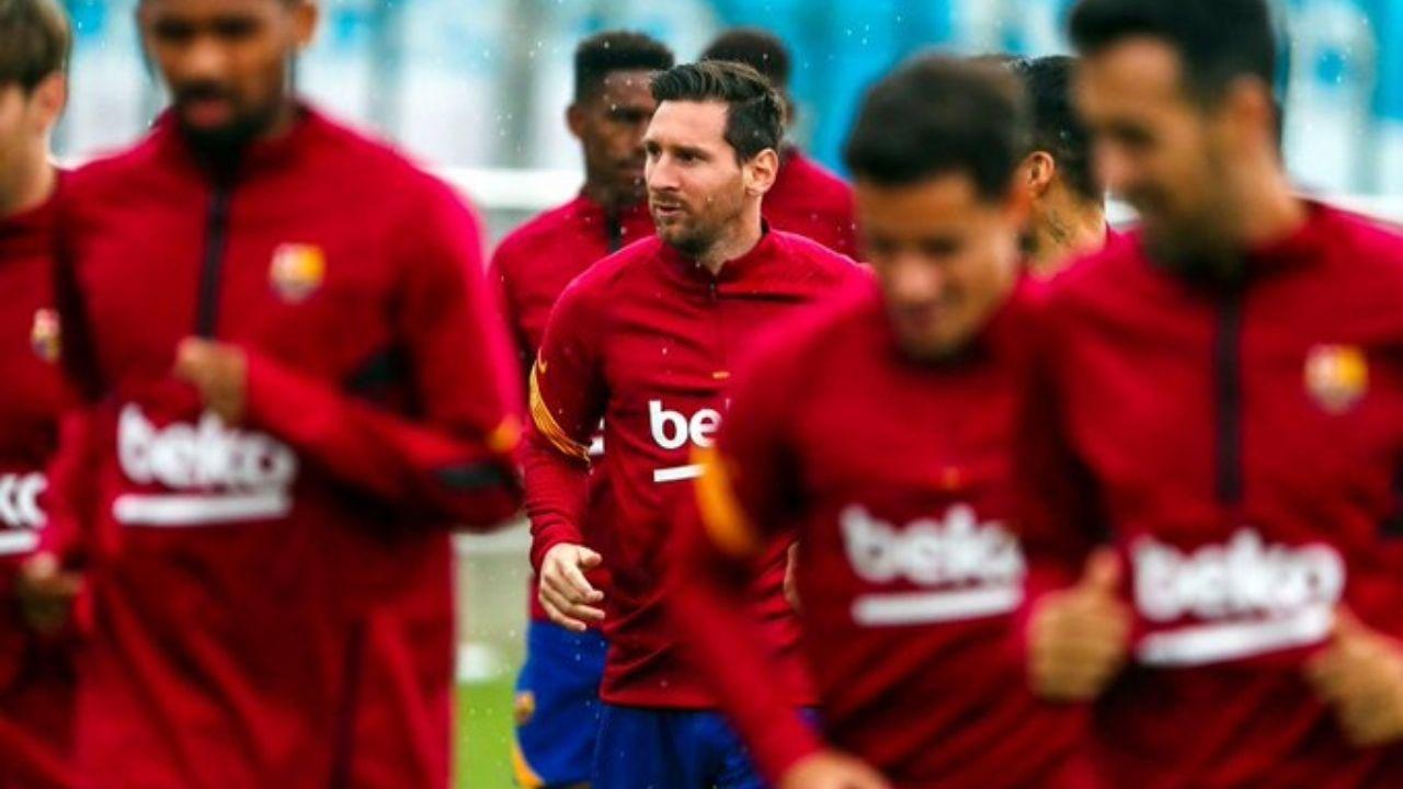 Messi ya entrena con el resto del plantel en el Barcelona