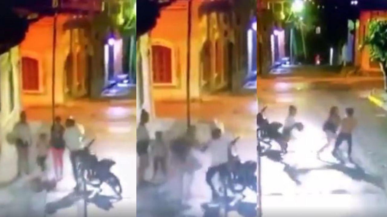 Dos hondureñas se van a los golpes con un sujeto que las intentó asaltar, mira el video