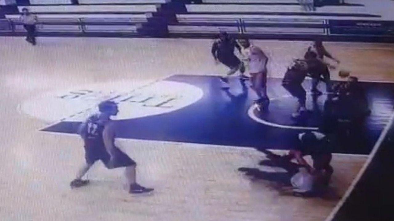 Vídeo muestra la brutal paliza que le propinó un jugador de básquetbol al árbitro