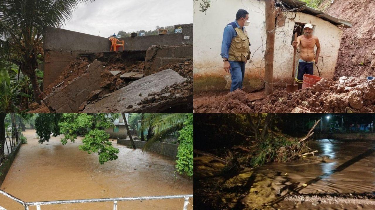 Muertes, derrumbes, inundaciones y casas dañadas, han ocasionado las fuertes lluvias en Honduras