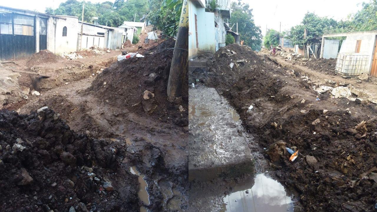 Leve lluvia deja casi incomunicada a la colonia Villa Nueva de Tegucigalpa, vecinos exigen respuesta a la alcaldía