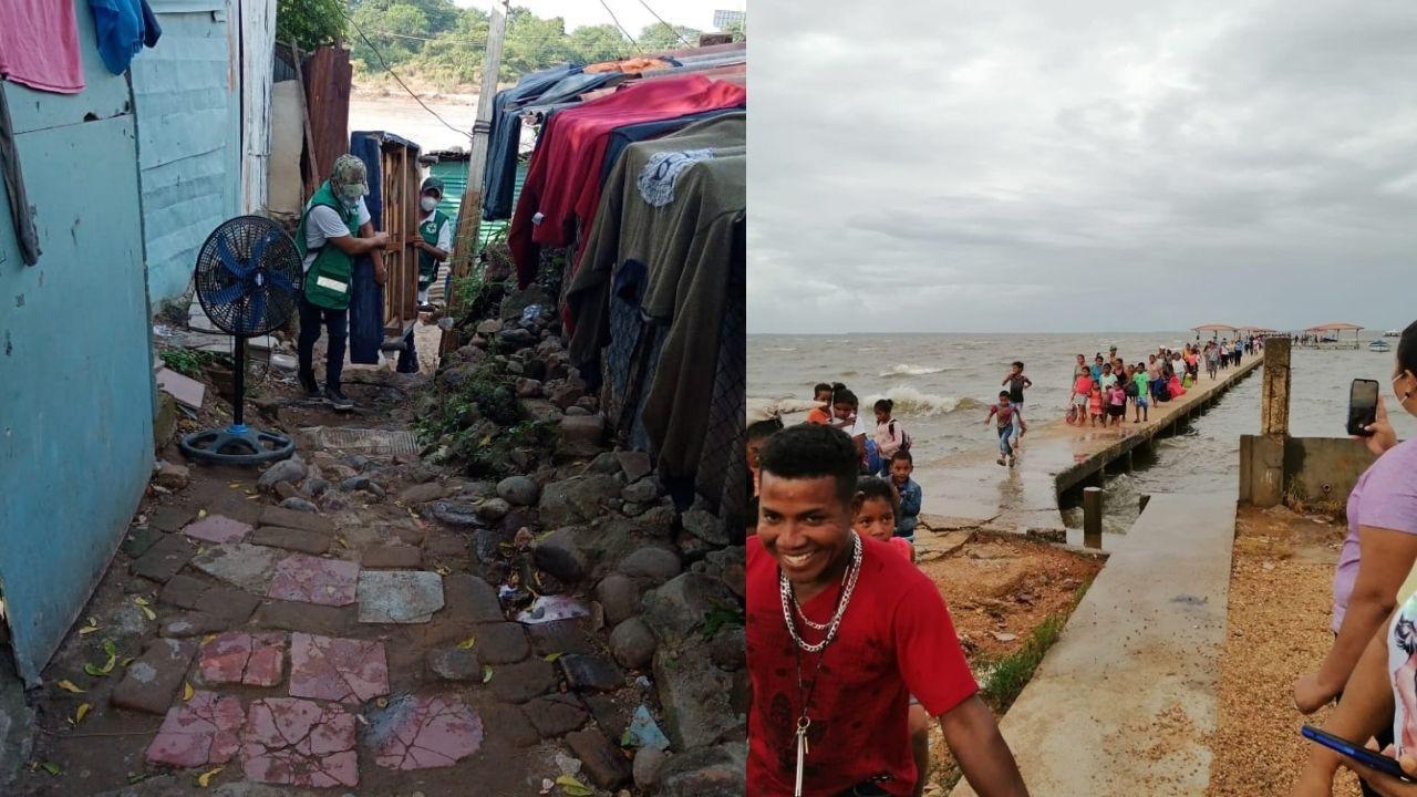En imágenes: Pobladores de  regiones de alto riesgo de Honduras comienzan a abandonar sus hogares por Iota