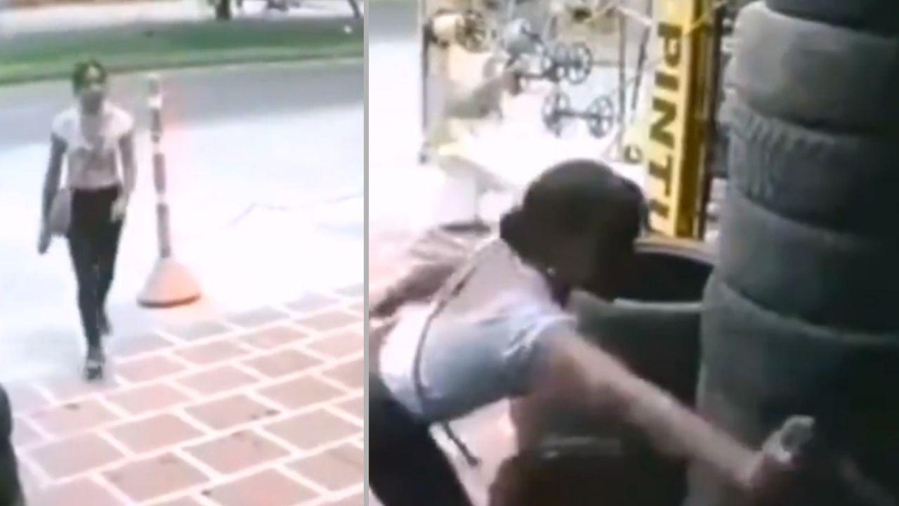 Una mujer roció gas pimienta a su acosador, su reacción es viral