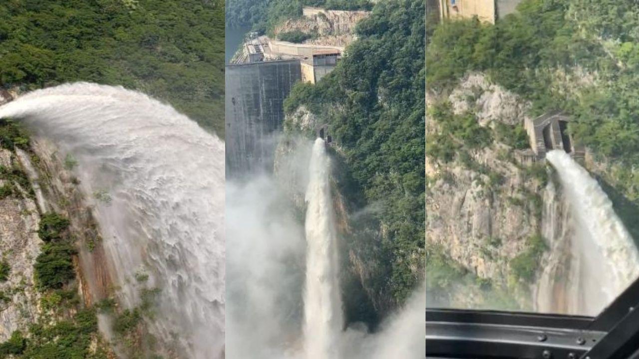 Comienzan las descargas controladas en la represa El Cajón, aquí los videos