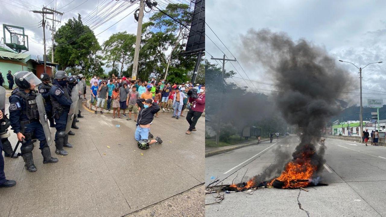 Imágenes del enfrentamiento entre lavadores de carros y agentes municipales que dejó un muerto y un herido