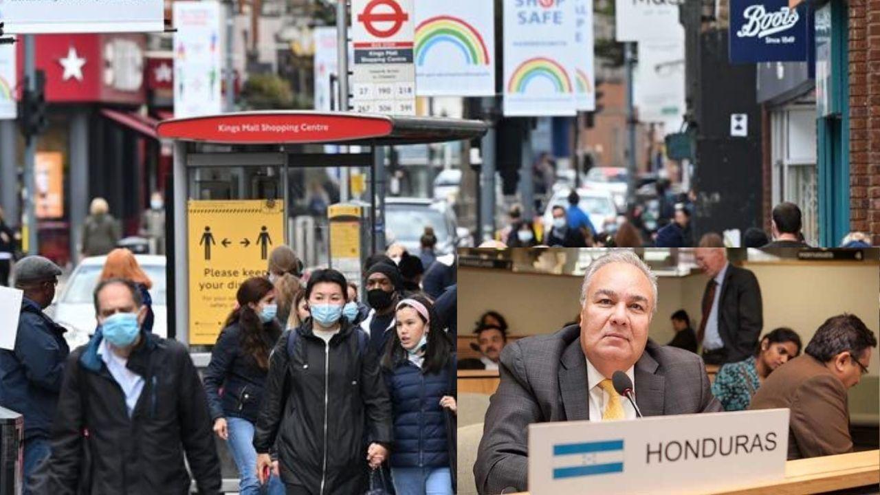 ¿Hay hondureños afectados en el Reino Unido por la nueva cepa de covid? lo revela el embajador de Honduras en el lugar