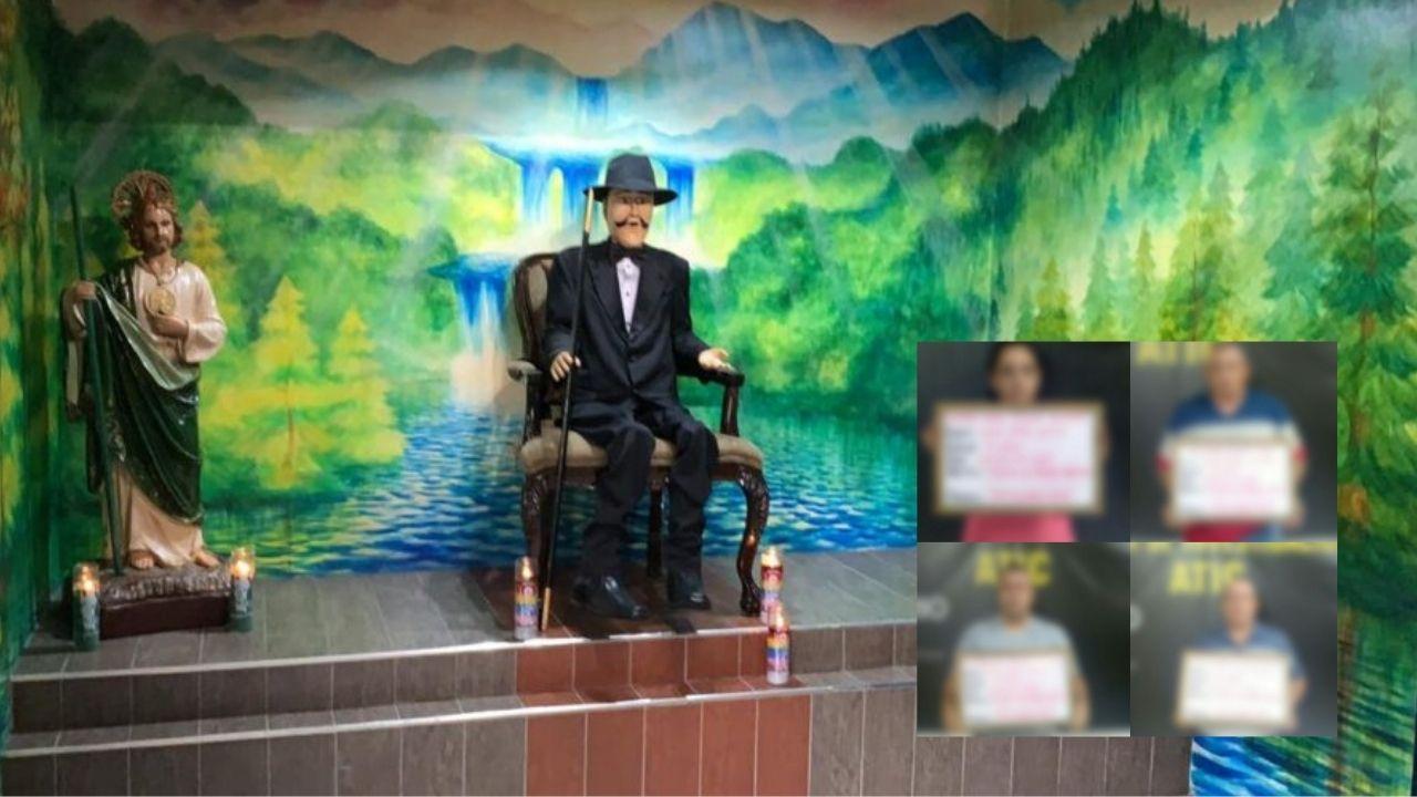 A la cárcel envían a 4 hondureños a quienes se les vincula con la figura de 'El Santo de los narcos' mexicanos