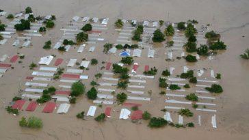 casas inundadas por eta y iota en honduras