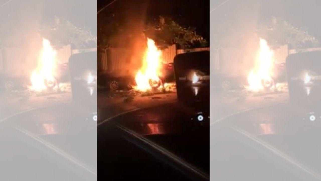 Hondureño muere carbonizado en su vehículo y graban en vídeo sus gritos de auxilio