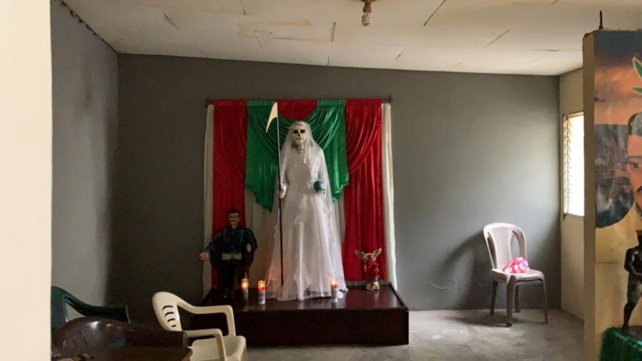 Hallan altares de muerte y la figura de Jesús Malverde, 'el Santo de los narcos' en operativo ejecutado en San Pedro Sula
