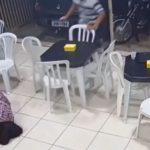 video capta momento mujer embarazada protege a su otro hijo en balacera