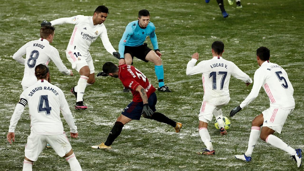 Osasuna y el frío congelaron al Real Madrid