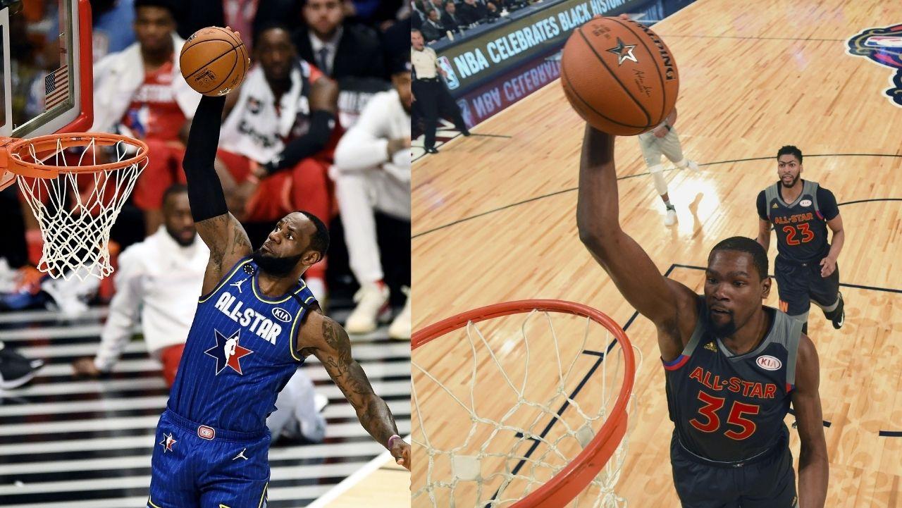 LeBron James y Kevin Durant liderarán el All Star Game 2021