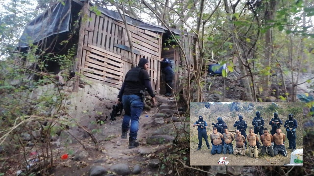 Capturan a seis supuestos mareros en un campamento para entrenamiento de sicarios en salida a Olancho