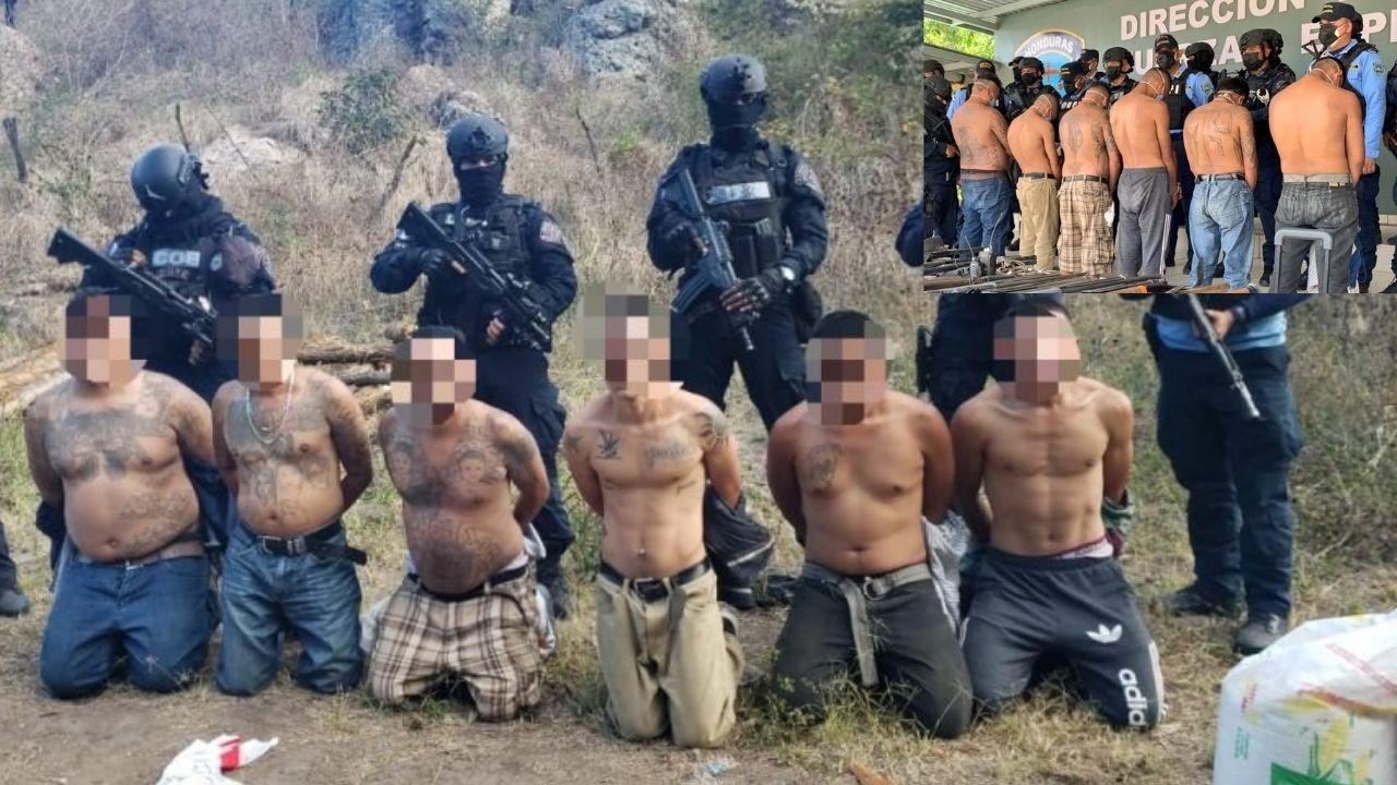 Detención judicial para seis cabecillas de la 'Escuelita de sicarios' capturados en salida a  Olancho