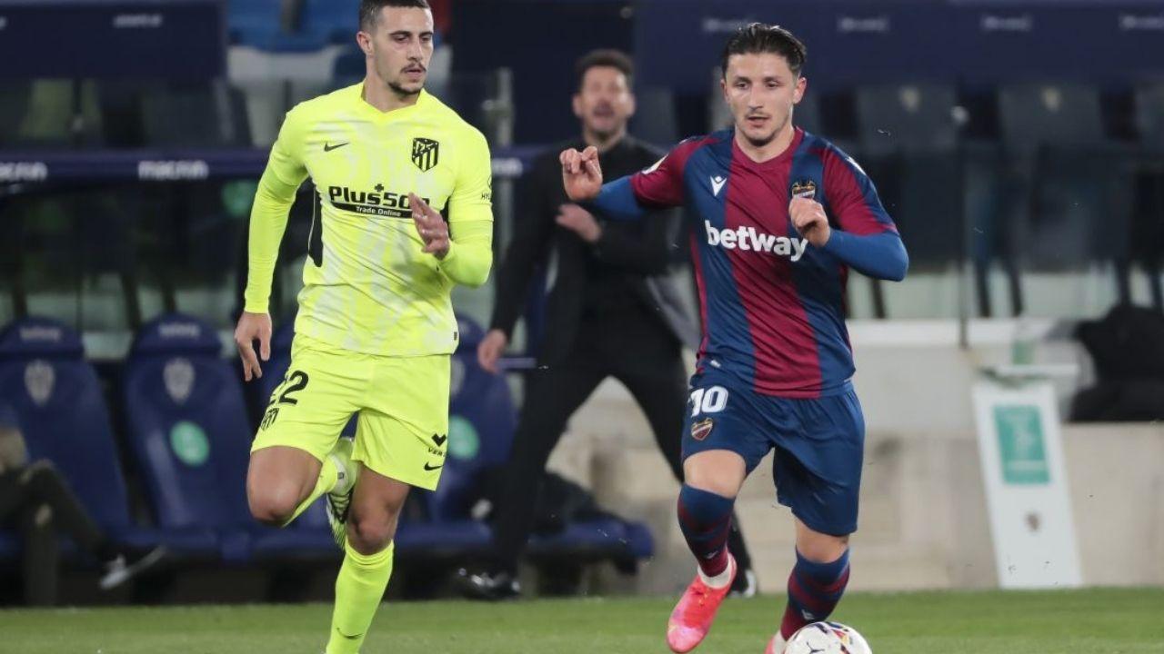 Levante sorprendió al Atlético de Madrid y le ganó 2-0 en el Wanda Metropolitano