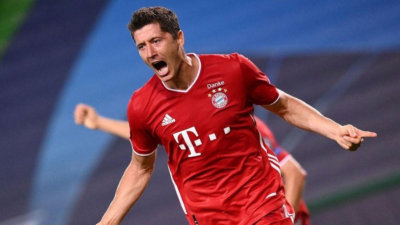 Lewandowski, el tercer máximo goleador en la historia de la Champions tras superar a Raúl