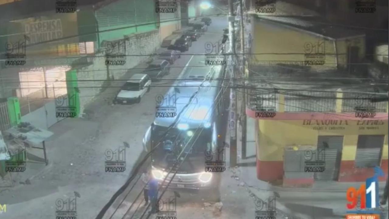 Cámaras de seguridad captan atentado contra operario de transporte en Comayagüela