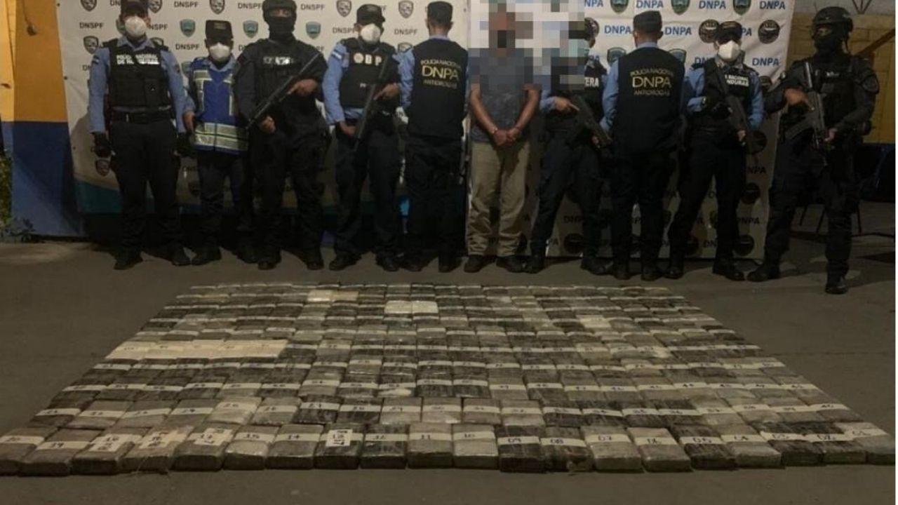 Decomisan más de 200 kilos de cocaína ocultos en un camión en el norte de Honduras