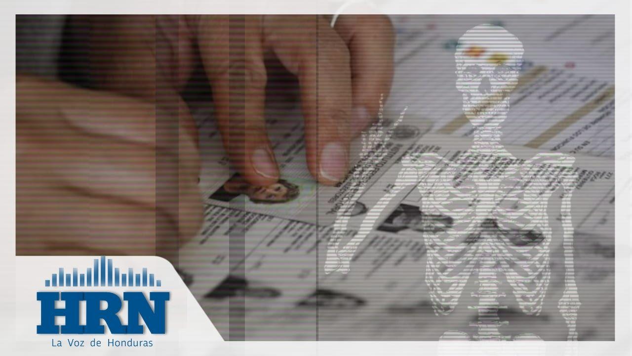 Al menos 300 mil muertos ya no votarán en las elecciones primarias de Honduras, según el RNP