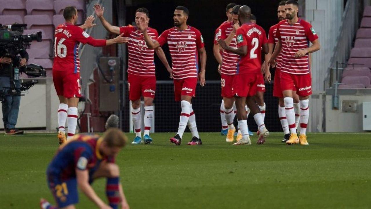 Barcelona cae 1-2 ante Granada y compromete sus aspiraciones en LaLiga