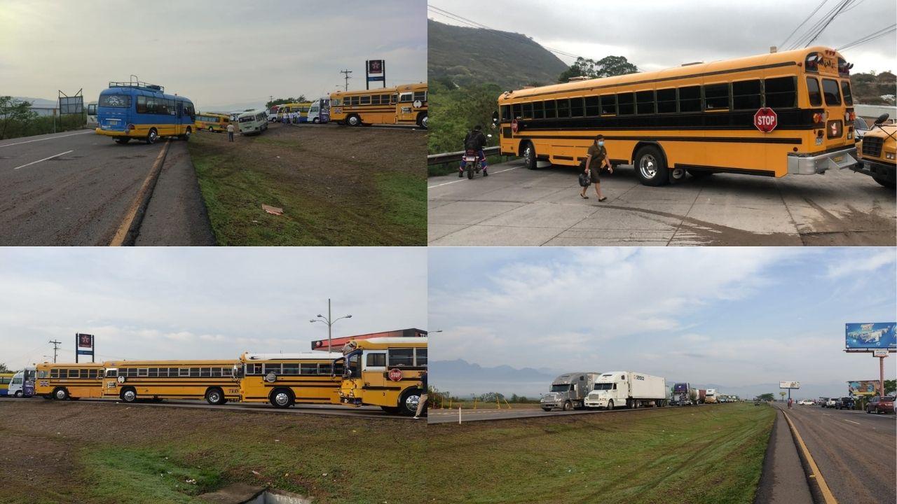 Las imágenes que reflejan el impacto del paro de transporte en Honduras
