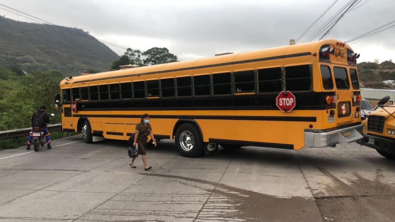 Estos son los principales puntos bloqueados por el paro de transporte este martes en Honduras