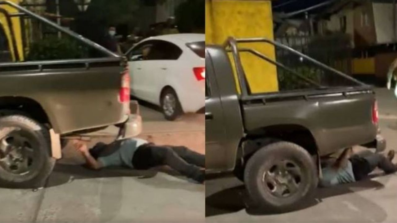Pastor evangélico simula ser atropellado por carro policial tras celebrar culto en plena pandemia, este vídeo lo delató