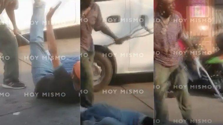 pelea machete