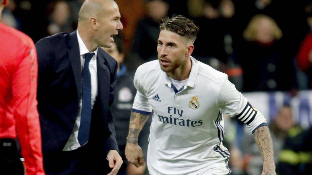 Zidane dejó a Sergio Ramos fuera de la convocatoria para el partido contra Osasuna