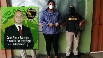 Capturan a esposa de presidente de colegio de abogados comayagua