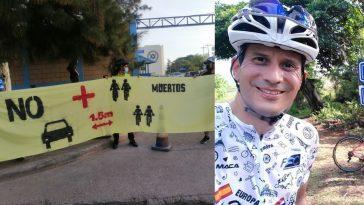 muere atropellado ciclista en honduras