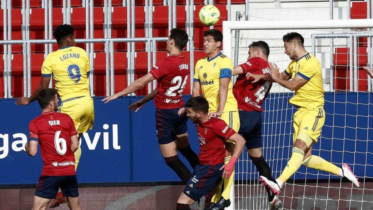 El Cádiz del Choco Lozano perdió 3-2 ante el Osasuna por LaLiga