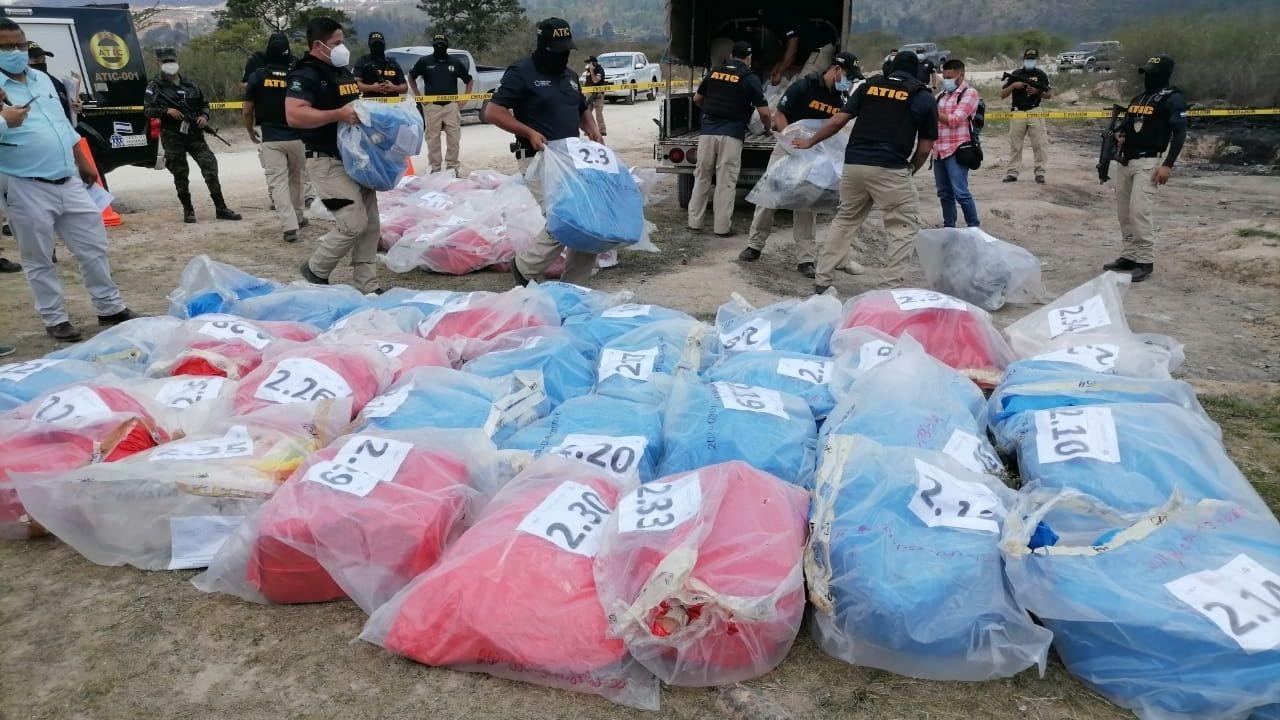 Honduras quema tres toneladas de cocaína valorada en más de 900 millones de lempiras