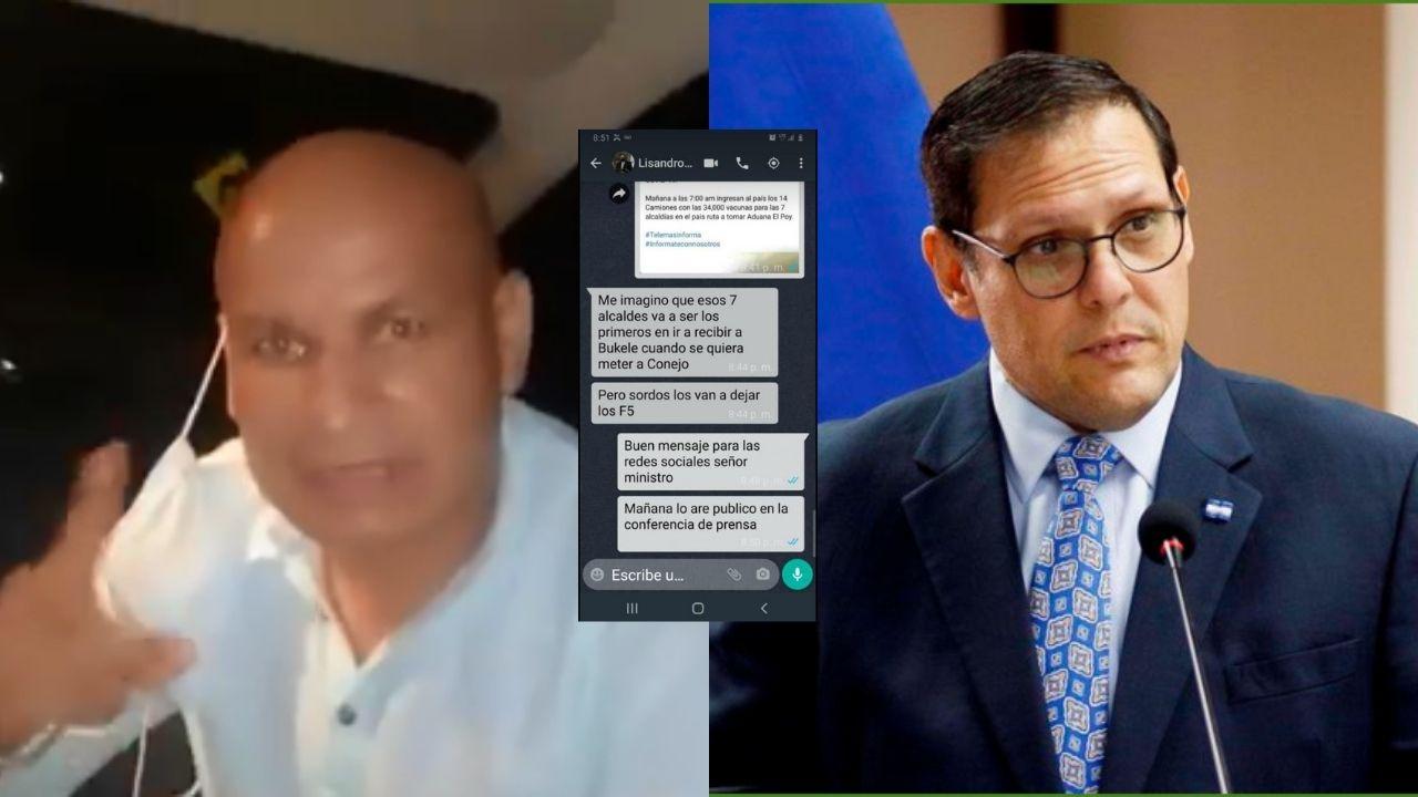 Alcaldes hondureños que solicitaron vacunas a El Salvador denuncian amenazas del canciller Lisandro Rosales; 'es falso', dice el funcionario