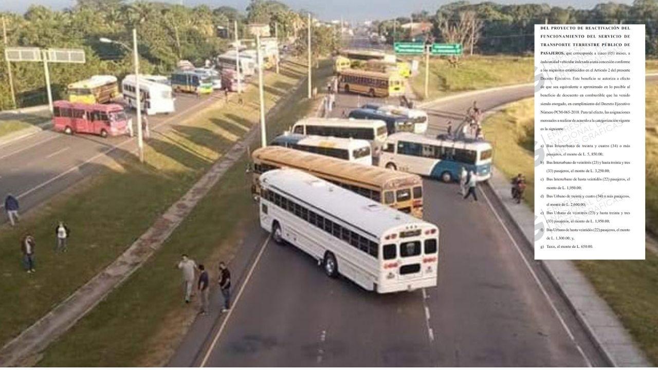 Publican en La Gaceta decreto que beneficia a transportistas hondureños