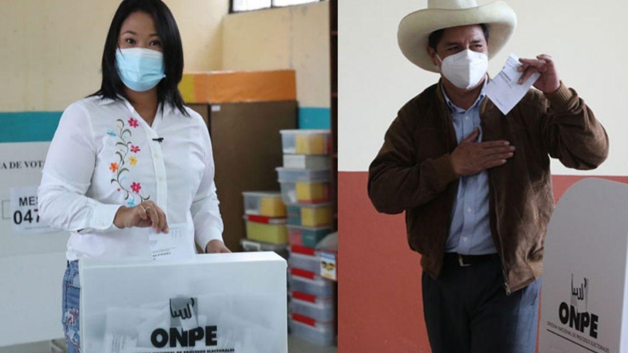 Fujimori arriba de Castillo pero en empate técnico, según el boca de urna