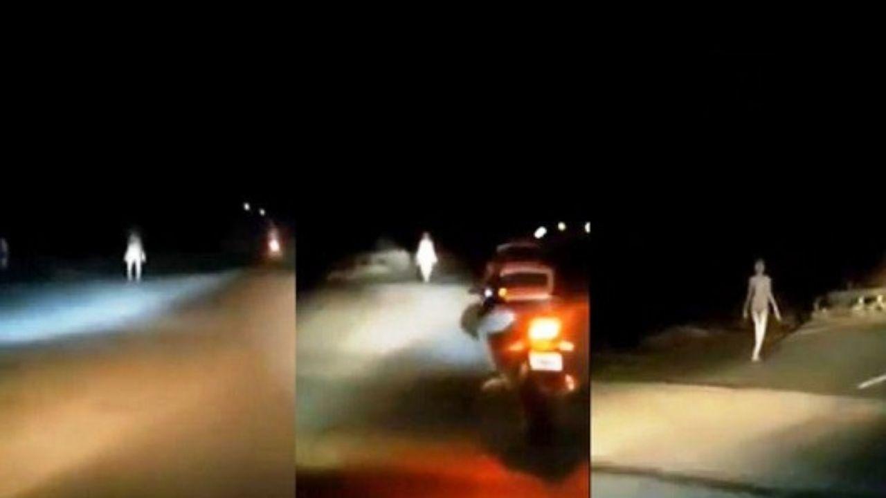 Video capta a un  supuesto alienígena en la India ¿Será real?