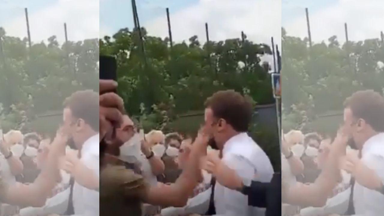Hombre abofetea al presidente francés Emmanuel Macron y así reaccionaron sus guardaespaldas